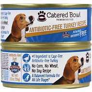 Catered Bowl Antibiotic-Free Turkey Recipe Canned Dog Food, 5.5-oz, case of 24