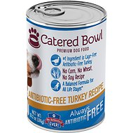 Catered Bowl Antibiotic-Free Turkey Recipe Canned Dog Food, 13.2-oz, case of 12
