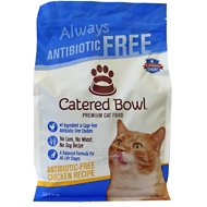Catered Bowl Antibiotic-Free Chicken Recipe Dry Cat Food , 3-lb bag