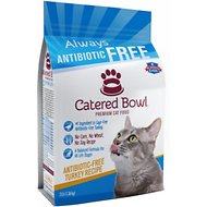 Catered Bowl Antibiotic-Free Turkey Recipe Dry Cat Food, 3-lb bag