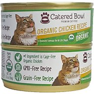 Catered Bowl Organic Chicken Recipe Canned Cat Food, 5.5-oz, case of 24