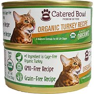 Catered Bowl Organic Turkey Recipe Canned Cat Food, 5.5-oz, case of 24