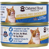 Catered Bowl Antibiotic-Free Chicken Recipe Canned Cat Food, 5.5-oz, case of 24