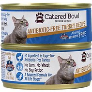 Catered Bowl Antibiotic-Free Turkey Recipe Canned Cat Food , 5.5-oz, case of 24