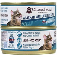 Catered Bowl Alaskan Whitefish Recipe Canned Cat Food, 5.5-oz, case of 24