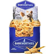 Barkworthies Chicken Feet Dog Treats, Case of 50