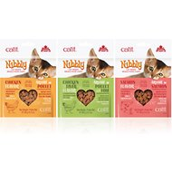Catit Nibbly Cat Treats Chicken, Chicken & Liver, & Salmon Variety Pack Cat Treats, 3.17-oz, 3 pack