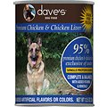 Dave's Pet Food 95% Premium Chicken & Chicken Liver Canned Dog Food