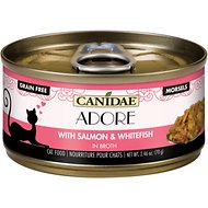 CANIDAE Adore Salmon & Whitefish in Broth Canned Cat Food, 2.46-oz, case of 24