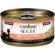 CANIDAE Adore Chicken & Shrimp in Broth Canned Cat Food, 2.46-oz, case of 24