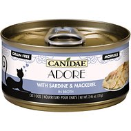 CANIDAE Adore Sardine & Mackerel in Broth Canned Cat Food, 2.46-oz, case of 24