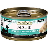 CANIDAE Adore Tuna, Chicken & Whitefish in Broth Canned Cat Food, 2.46-oz, case of 24