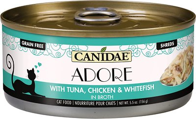 8. CANIDAE Adore Tuna, Whitefish, & Chicken in Broth