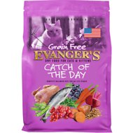 Evanger's Grain-Free Catch of the Day Dry Cat & Kitten Food, 4.4-lb bag