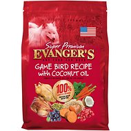 Evanger's Super Premium Game Bird Recipe with Coconut Oil Dry Dog Food, 4.4-lb bag
