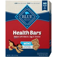 Blue Buffalo Mini Health Bars Baked with Bacon, Egg & Cheese Dog Treats, 2-lb box