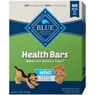 Blue Buffalo Mini Health Bars Baked Apples & Yogurt Dog Treats, 2-lb box