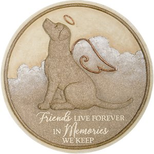 Carson Industries Friends Dog Live Forever Garden Stone