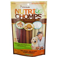 Premium Nutri Chomps Assorted Flavor Mini Stick Dog Treats, 15 count