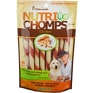 Premium Nutri Chomps Mini Chicken Flavor Twist Dog Treats, 10 count