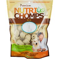 "Premium Nutri Chomps 4"" Milk Flavor Knots Dog Treats, 9 count"