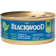 Blackwood Turkey, Turkey Liver & Pumpkin Grain-Free Adult Canned Cat Food, 5.5-oz, case of 24