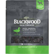 Blackwood Duck, Chickpea & Sweet Potato Grain-Free Dog Treats, 4-oz bag