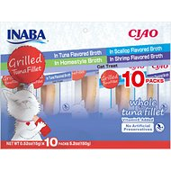 Inaba Ciao Grilled Tuna Fillet Variety Pack Grain-Free Cat Treat, 10 count