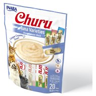 Inaba Churu Tuna Puree Variety Pack Grain-Free Lickable Cat Treat, 20 count bag