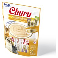 Inaba Churu Chicken Puree Variety Pack Grain-Free Lickable Cat Treat, 20 count