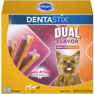 Pedigree Dentastix Small Dual Flavor Bacon & Chicken Flavor Dental Dog Treats, 84 count