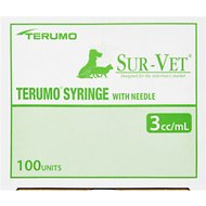 Terumo 3cc Luerloc Syringes with 22 Gauge Needles, 1 inch