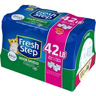 Fresh Step Odor Shield Scented Cat Litter, 10.5-lb bag, pack of 4
