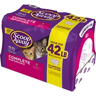 Scoop Away Complete Performance Scented Scoopable Cat Litter, 10.5-lb bag, pack of 4