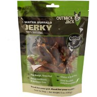 Outback Jack Water Buffalo Jerky Dog Treat, 6-oz resealable bag