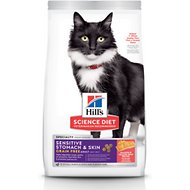 Hill's Science Diet Adult Sensitive Stomach & Skin Grain-Free Salmon & Yellow Pea Recipe Dry Cat Food, 13-lb bag