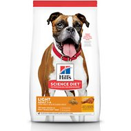 Hill's Science Diet Adult Light With Chicken Meal & Barley Dry Dog Food, 15-lb bag