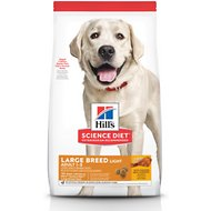 Hill's Science Diet Adult Large Breed Light With Chicken Meal & Barley Dry Dog Food, 30- lb bag