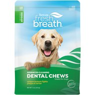 TropiClean Fresh Breath Advanced Dental Large Dog Chews, 11-oz bag