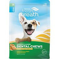 TropiClean Fresh Breath Small Breed Dental Chews, 11-oz bag, Peanut Butter Flavor