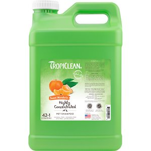 TropiClean Sweet Mandarin Highly Concentrated Dog & Cat Shampoo, 2.5 gal bottle