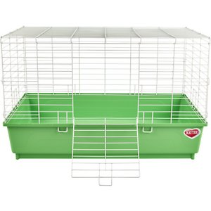Kaytee My First Home Small Animal Habitat, Color Varies; Give your furball a comfy and secure place to call home with the My First Home small animal habitat from Kaytee. This easy-to-assemble enclosure was designed to be the ideal environment for guinea pigs or dwarf rabbits—with plenty of room for your new best buddy to roam. It helps to prevent against Houdini escapes, with chew-proof latches and sturdy wire technology. Plus, it\\\'s easy to clean, thanks to a removable base that drops off in a snap! That\\\'s how Kaytee says, \\\