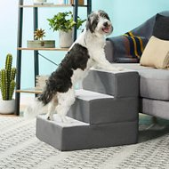 Zinus 3 Step Easy Pet Stair, Grey, Medium