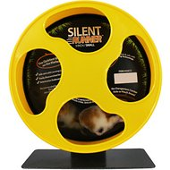 Exotic Nutrition Silent Runner Small Animal Exercise Wheel, Yellow, Small