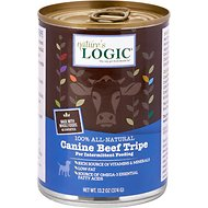 Nature's Logic Canine Beef Tripe Grain-Free Canned Dog Food, 13.2-oz, case of 12