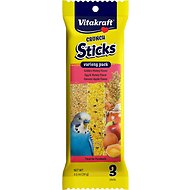 Vitakraft Crunch Sticks Variety Pack Parakeet Treat, 3 pack