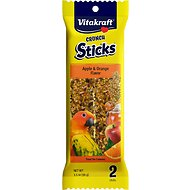 Vitakraft Crunch Sticks Apple & Orange Flavor Conure Treats, 2 pack