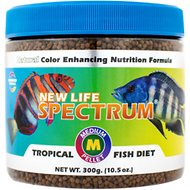 New Life Spectrum Naturox Medium 1mm Sinking Pellet Fish Food, 10.5-oz jar