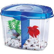 Aqueon Betta Bowl Aquarium Starter Kit, Blue, 0.5-gal