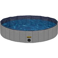 KOPEKS Outdoor Portable Dog Swimming Pool, Gray, Medium